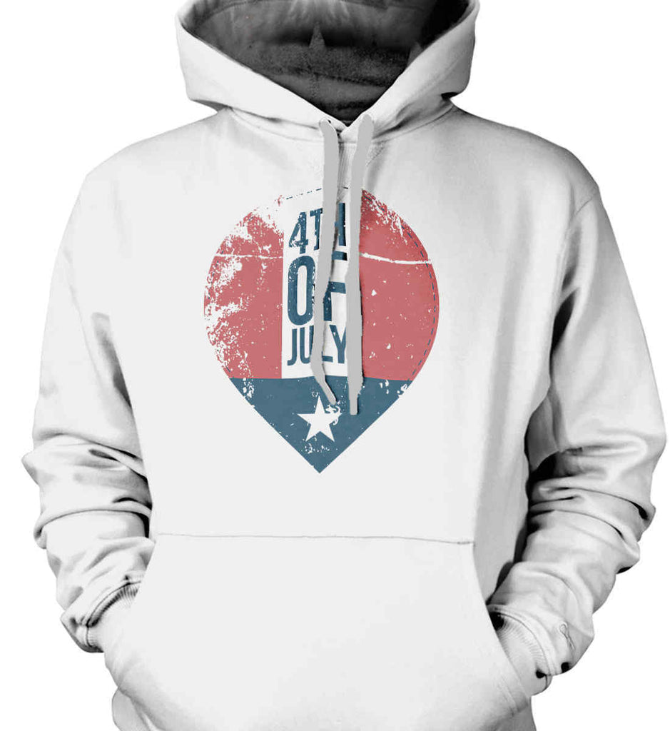 4th of July with Star. Gildan Heavyweight Pullover Fleece Sweatshirt.-2