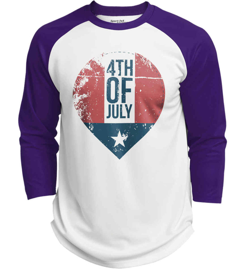 4th of July with Star. Sport-Tek Polyester Game Baseball Jersey.-3