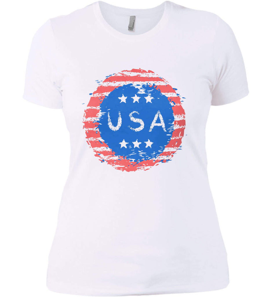 Grungy USA. Women's: Next Level Ladies' Boyfriend (Girly) T-Shirt.-2