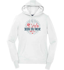 4th of July. Independence Day Since 1776. Women's: Sport-Tek Ladies Pullover Hooded Sweatshirt.