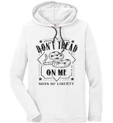 Don't Tread on Me. Snake. Sons of Liberty. Black Print. Anvil Long Sleeve T-Shirt Hoodie.