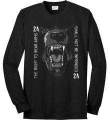 The Right to Bear Arms. Shall Not Be Infringed. Port & Co. Long Sleeve Shirt. Made in the USA..