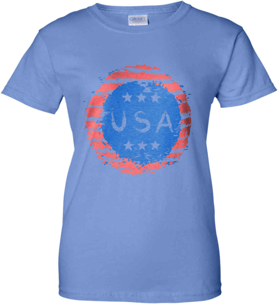 Grungy USA. Women's: Gildan Ladies' 100% Cotton T-Shirt.-3