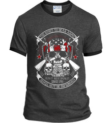 The Right to Bear Arms. Shall Not Be Infringed. Since 1791. Port and Company Ringer Tee.