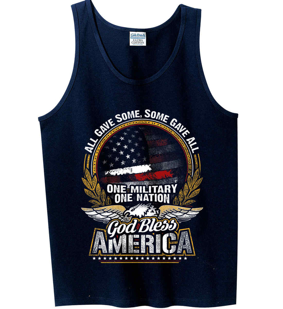 All Gave Some, Some Gave All. God Bless America. Gildan 100% Cotton Tank Top.-2