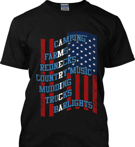 Redneck America. Gildan Ultra Cotton T-Shirt.