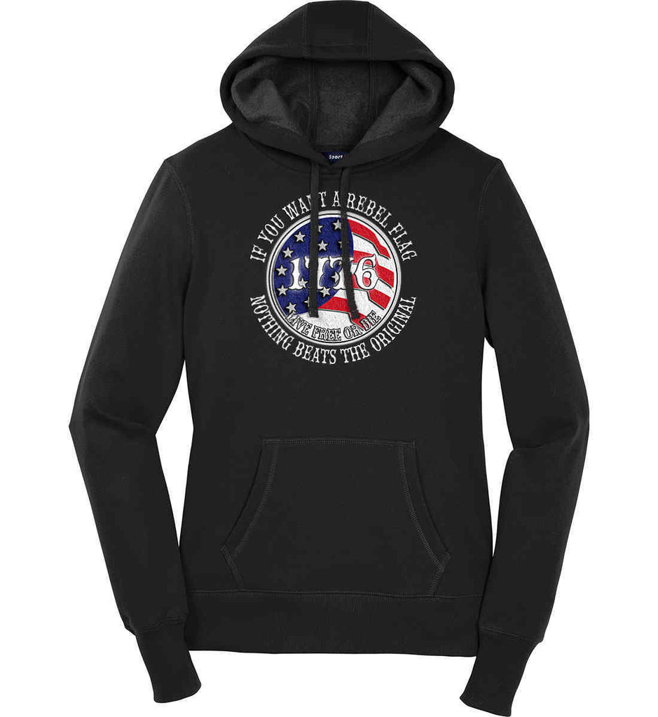 If you want a rebel flag. Nothing beats the original. Women's: Sport-Tek Ladies Pullover Hooded Sweatshirt.-1