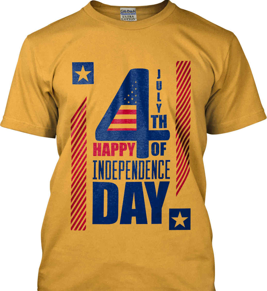 4th of July with Stars and Stripes. Gildan Ultra Cotton T-Shirt.-2