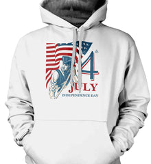 Patriot Flag. July 4th. Independence Day. Gildan Heavyweight Pullover Fleece Sweatshirt.