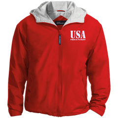 USA. Proud Patriot. Port Authority Team Jacket. (Embroidered)