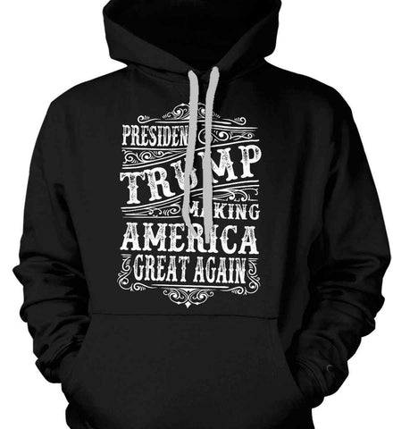 President Trump. Making America Great Again. Gildan Heavyweight Pullover Fleece Sweatshirt.