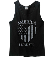 America I Love You Gildan 100% Cotton Tank Top.
