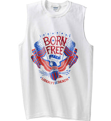 Born Free 1776. Liberty or Death. Gildan Men's Ultra Cotton Sleeveless T-Shirt.