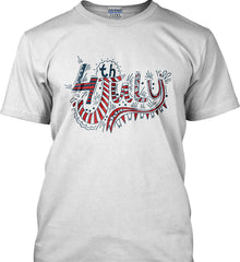 July 4th Red, White and Blue. Gildan Tall Ultra Cotton T-Shirt.