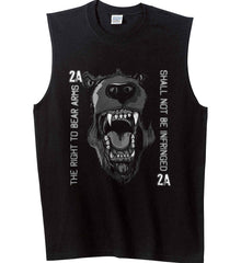 The Right to Bear Arms. Shall Not Be Infringed. Gildan Men's Ultra Cotton Sleeveless T-Shirt.