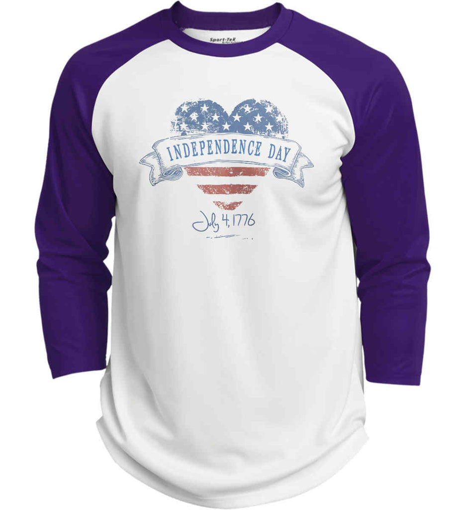 Independence Day. July, 4 1776. Sport-Tek Polyester Game Baseball Jersey.-4