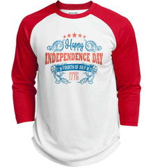 Happy Independence Day. Fourth of July. 1776. Sport-Tek Polyester Game Baseball Jersey.