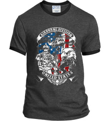 Airborne Division. United States. Port and Company Ringer Tee.