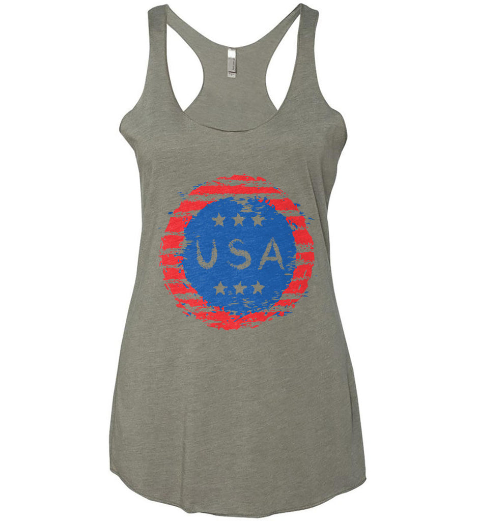 Grungy USA. Women's: Next Level Ladies Ideal Racerback Tank.-2