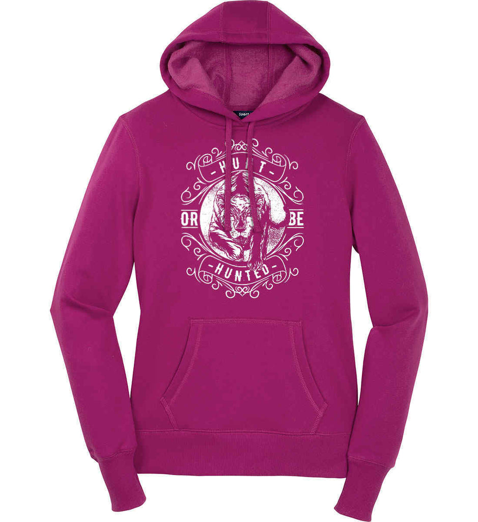 Hunt or be Hunted. Women's: Sport-Tek Ladies Pullover Hooded Sweatshirt.-2