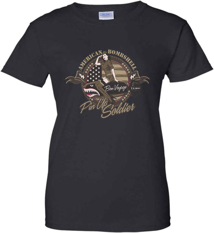 American Bombshell. Women's: Gildan Ladies' 100% Cotton T-Shirt.