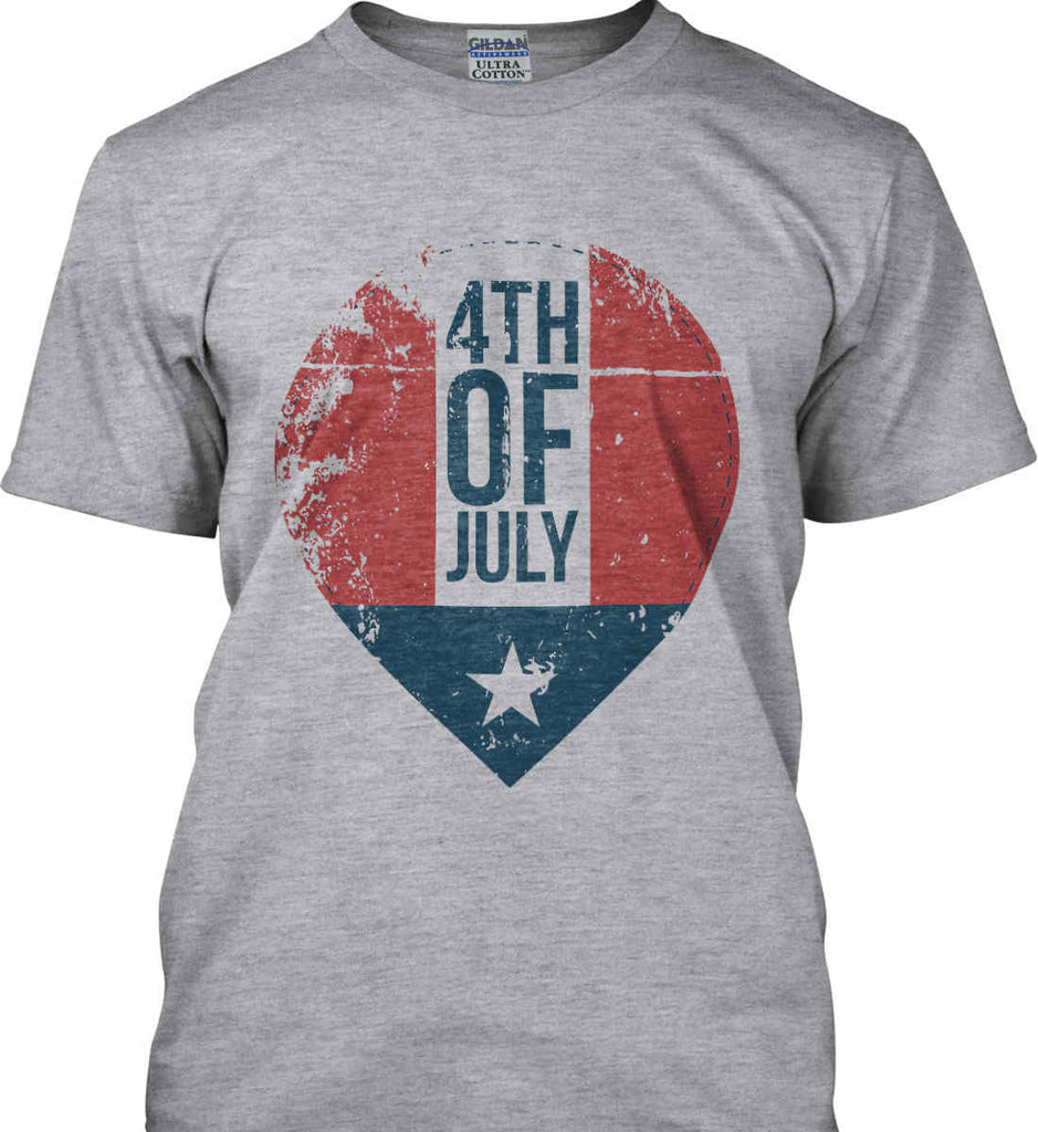4th of July with Star. Gildan Ultra Cotton T-Shirt.-3