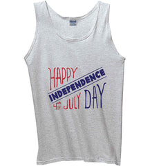 Happy Independence Day. 4th of July. Gildan 100% Cotton Tank Top.