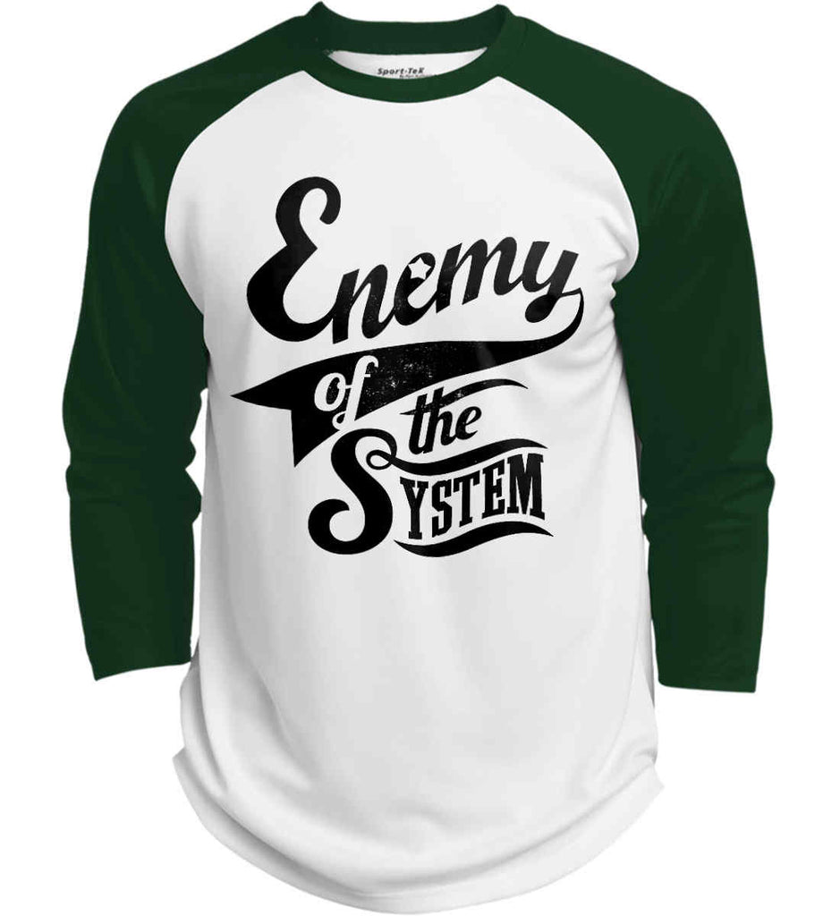 Enemy of The System. Sport-Tek Polyester Game Baseball Jersey.-2