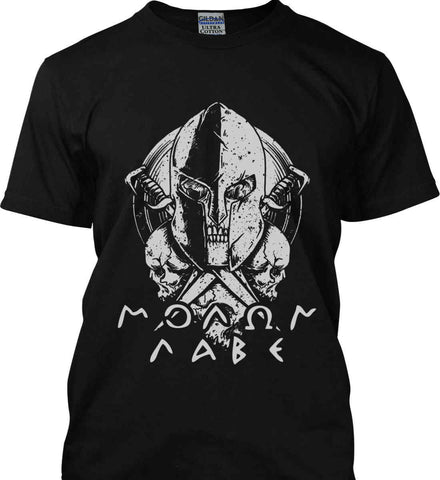 Molon Labe. Spartan. Grey Print. Gildan Ultra Cotton T-Shirt.