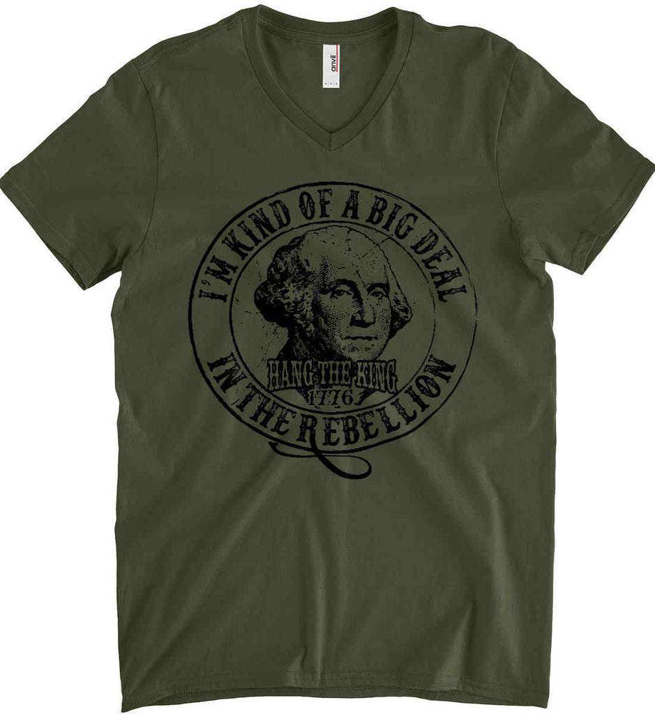 I'm Kind of Big Deal in the Rebellion. Anvil Men's Printed V-Neck T-Shirt.-5