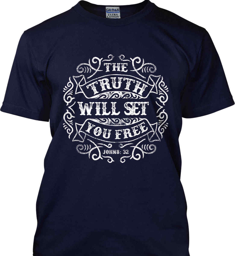 The Truth Shall Set You Free. Gildan Ultra Cotton T-Shirt.-1