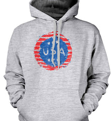Grungy USA. Gildan Heavyweight Pullover Fleece Sweatshirt.