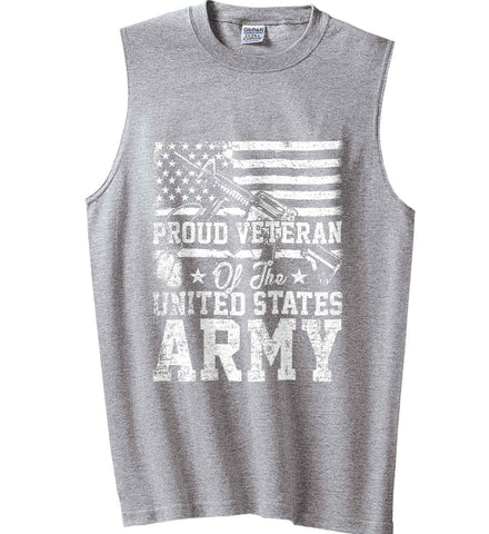 Proud Veteran. US ARMY. Gildan Men's Ultra Cotton Sleeveless T-Shirt.