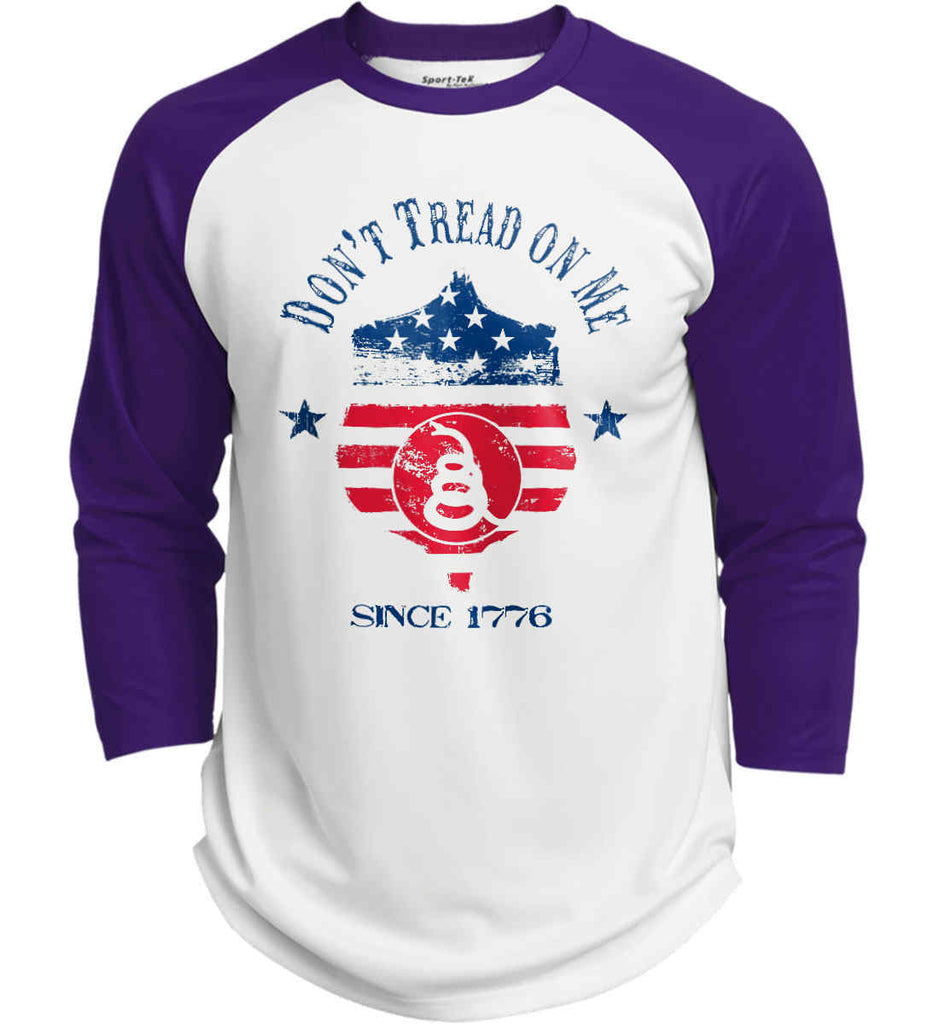 Don't Tread on Me. Snake on Shield. Red, White and Blue. Sport-Tek Polyester Game Baseball Jersey.-5