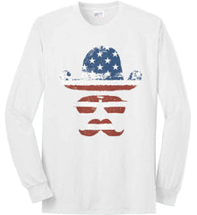Do you even know how to Patriot Bro? Port & Co. Long Sleeve Shirt. Made in the USA..