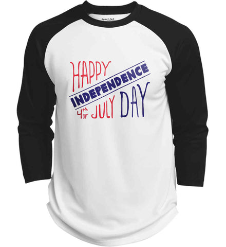 Happy Independence Day. 4th of July. Sport-Tek Polyester Game Baseball Jersey.