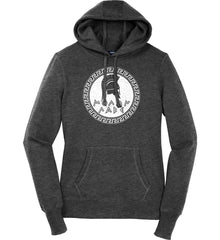 Molon Labe. Spartan Helmet. White Print. Women's: Sport-Tek Ladies Pullover Hooded Sweatshirt.