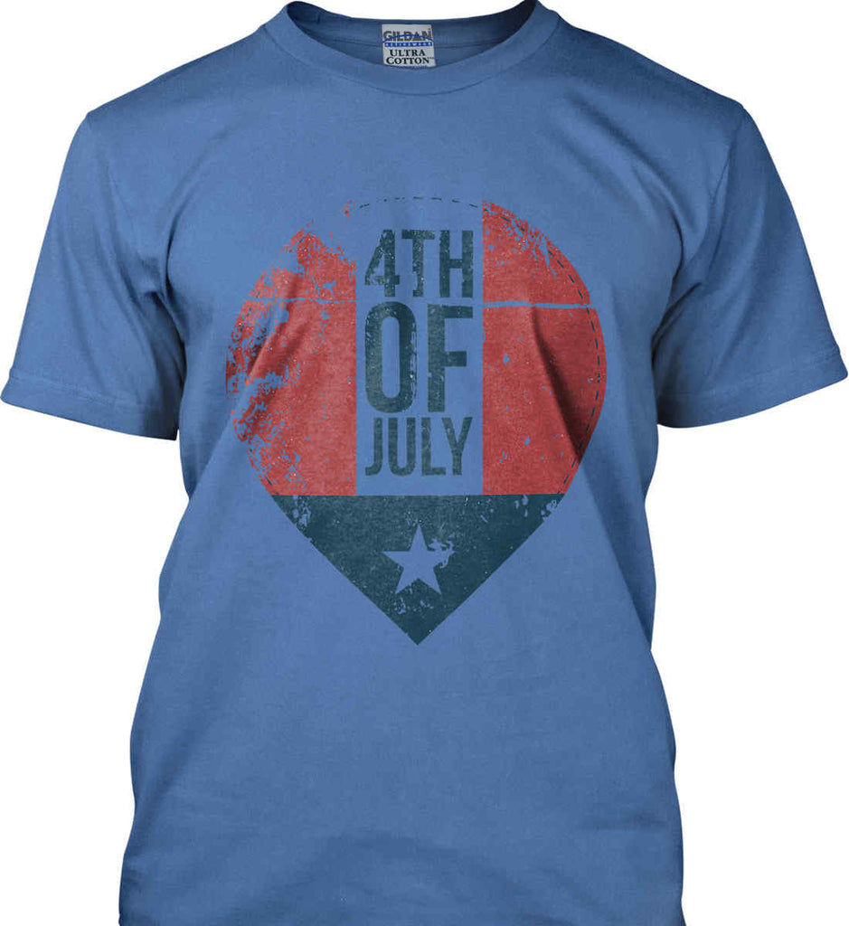 4th of July with Star. Gildan Ultra Cotton T-Shirt.-7