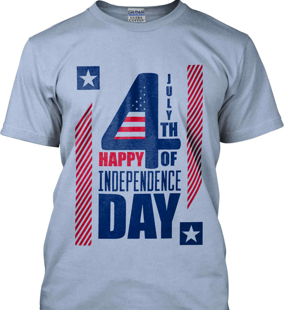 4th of July with Stars and Stripes. Gildan Ultra Cotton T-Shirt.-3