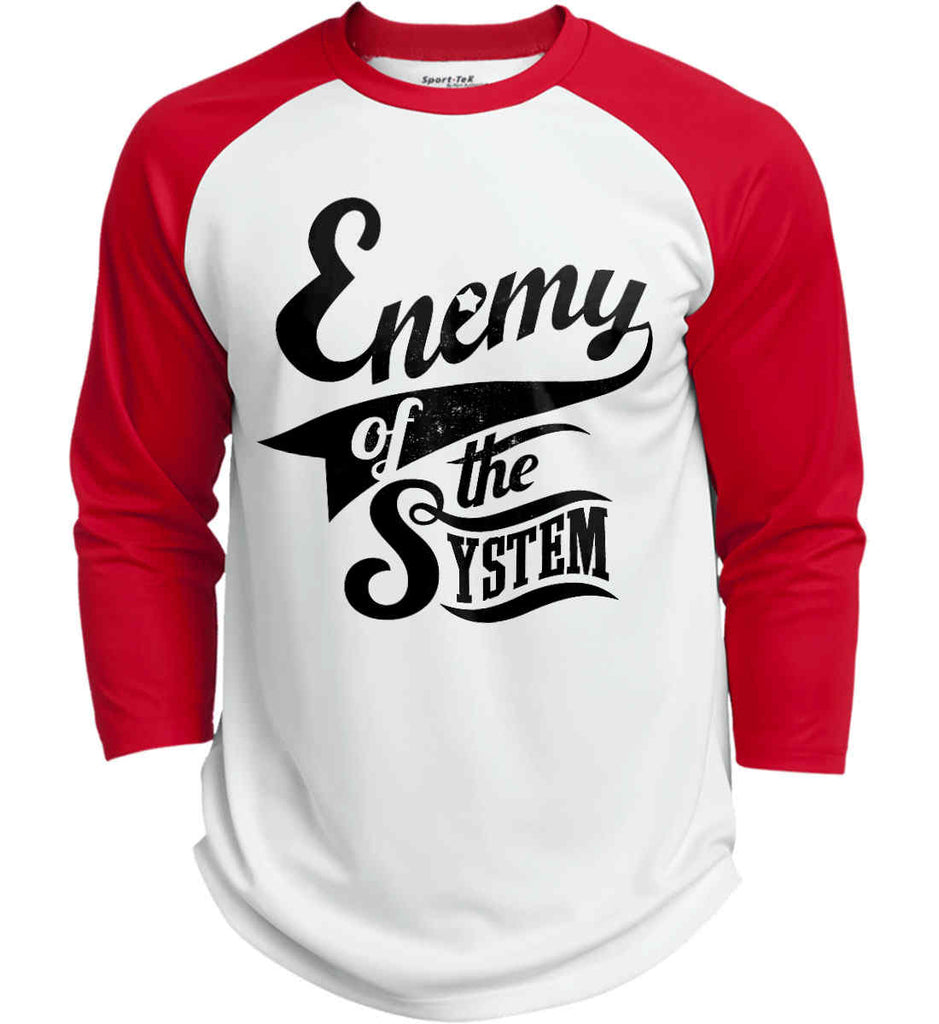 Enemy of The System. Sport-Tek Polyester Game Baseball Jersey.-6