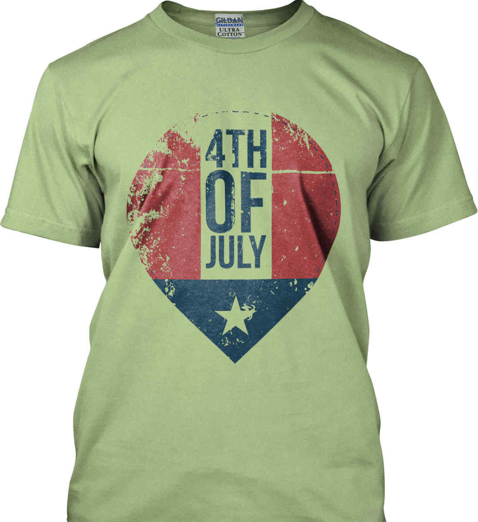 4th of July with Star. Gildan Ultra Cotton T-Shirt.-9