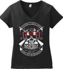 The Right to Bear Arms. Shall Not Be Infringed. Since 1791. Women's: Anvil Ladies' V-Neck T-Shirt.