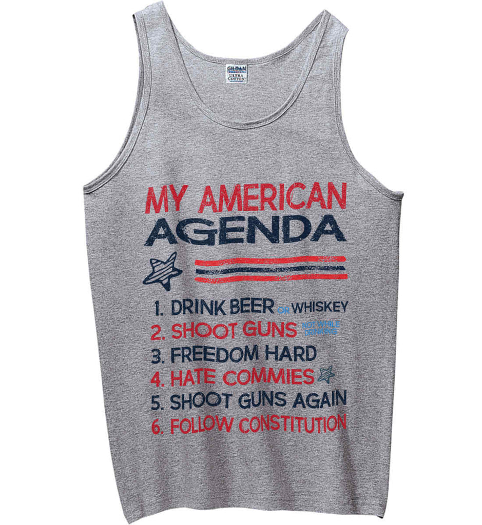 My American Agenda. Gildan 100% Cotton Tank Top.-2