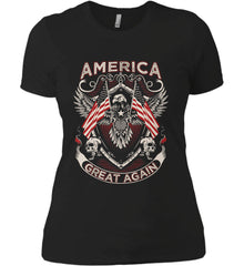 America. Great Again. Women's: Next Level Ladies' Boyfriend (Girly) T-Shirt.
