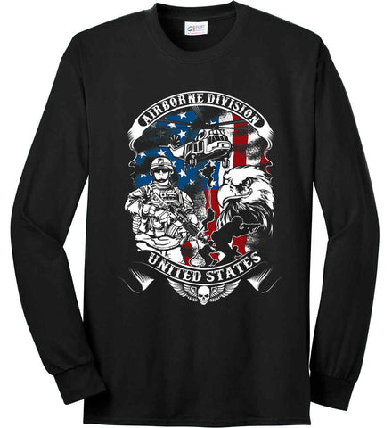 Airborne Division. United States. Port & Co. Long Sleeve Shirt. Made in the USA..