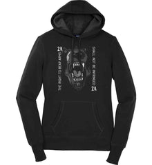 The Right to Bear Arms. Shall Not Be Infringed. Women's: Sport-Tek Ladies Pullover Hooded Sweatshirt.