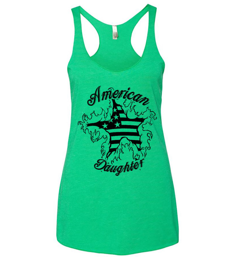 American Daughter. Women's Patriot Design. Women's: Next Level Ladies Ideal Racerback Tank.-4