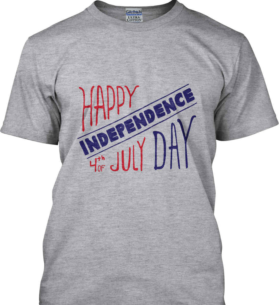 Happy Independence Day. 4th of July. Gildan Ultra Cotton T-Shirt.-1