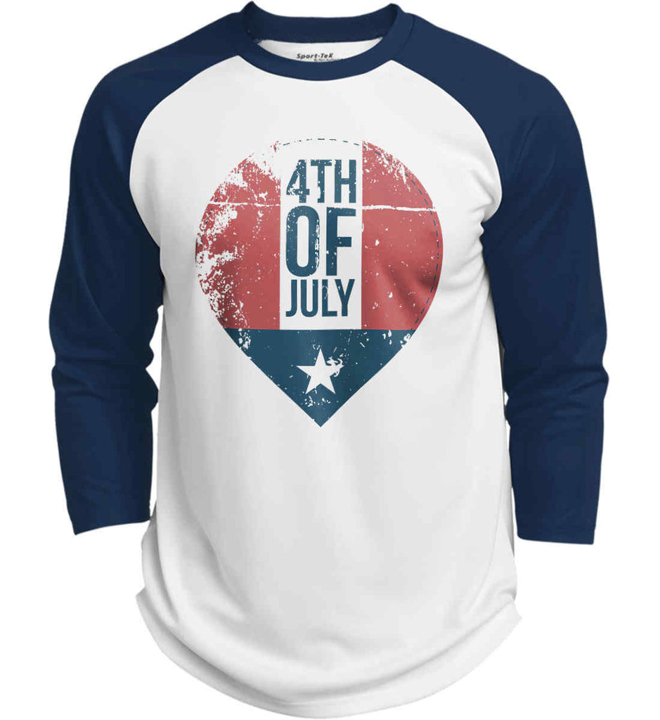 4th of July with Star. Sport-Tek Polyester Game Baseball Jersey.-5