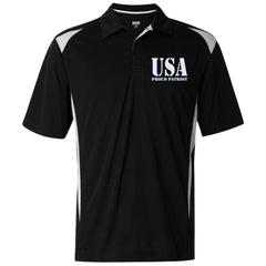 USA. Proud Patriot. Augusta Premier Sport Shirt. (Embroidered)